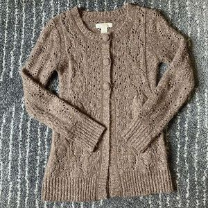 Anthropologie lacy cardigan sweater size Small